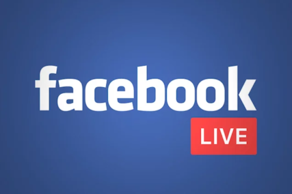 Facebook live logo with image
